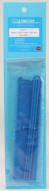 Lonestar Models HO 12115 43' Grain Trailer Tarp Set, Blue  (d)