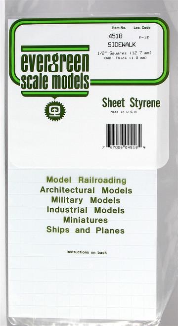 """Evergreen Scale Models 4518 Sidewalk 1/2"""""""