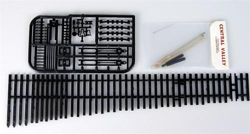 Central Valley Model Works HO 2771 Code 70 Curvable Switch Kit #7 Left