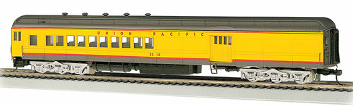 Bachmann Silver Series HO 13605 72' Heavyweight Combine Car with 4-Window Door and LED Lighted Interior, Union Pacific #2512