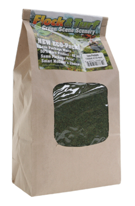 Scenic Express EX886E Flock and Turf Ground Cover, Farm Pasture Blend 48 oz. ECO Pack