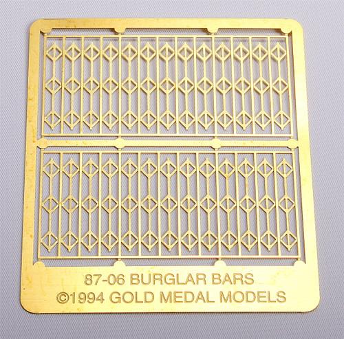 Gold Medal Models HO 87-06 Storefront Security Gates (Burglar Bars, 2 sets)