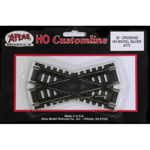 Atlas HO 173 Code 100 Track 30-Degree Custom-Line Crossing