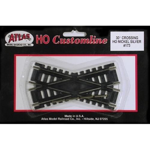Atlas HO 173 Code 100 Track 30-Degree Custom-Line Crossing