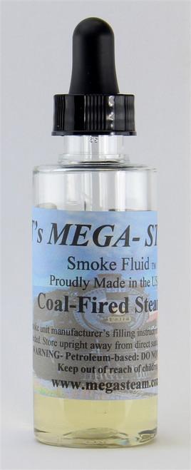 JT's Mega Steam O/HO COAL Smoke Fluid 2 Oz. Bottle, Coal Fired Steamer