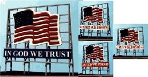 Blair Line N 1520 Laser-cut Billboard: Unites States Flag