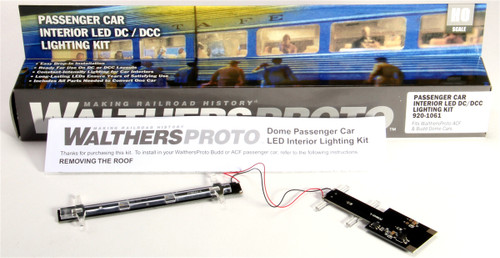 Walthers Proto HO 920-1061 Passenger Car Interior Constant-Intensity LED Lighting Kit (Fits Walthers Proto ACF & Budd Dome Cars)