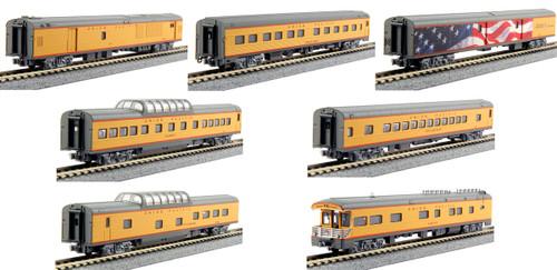 Kato N 106086 Excursion Train 7-Car Set, Union Pacific