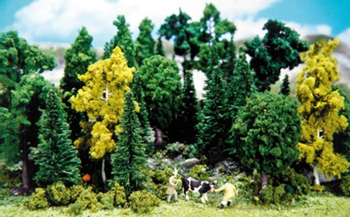 "Heki 0303 Pine and Deciduous Forest, 2-1/2"" to 4-1/2"" (30)"