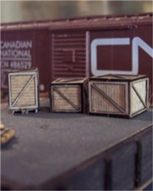 Osborn Model Kits HO 1065 Wooden Crates Kit (3)