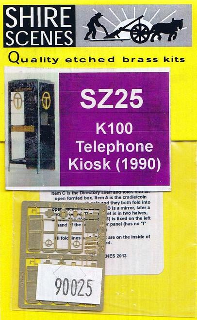 N Scale Architect Z 90025 Shire Scenes (SZ25) Telephone Kiosk Kit (1990) (d)