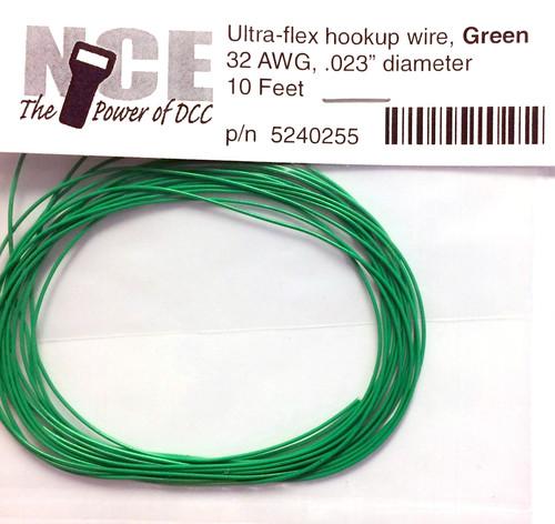 NCE 524255 Ultra-Flex Hookup Wire, Green