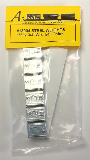 "A-Line 13004 Steel Weights (1/2"" x 3/4"" x 1/4"")"
