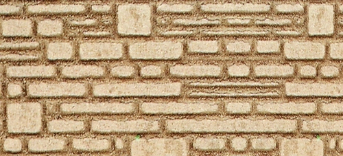 "Heki HO 70012 Foam Wall Material, Horizontal Natural Hewn Gray Block 11.25"" x 5.75"" (2-Pack)"