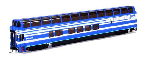 "Bachmann Silver Series HO 13345 89' Colorado Railcar Full Dome Car with LED Lighted Interior, Denali Princess ""Sanford"" 7086"