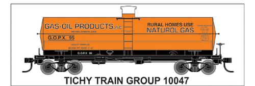 Tichy Train Group N 10047 Gas-Oil Products Decal Set for 8,000 Gallon Tank Car (d) (d)