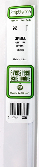 """Evergreen Scale Models 265 Channel .156"""" (4)"""