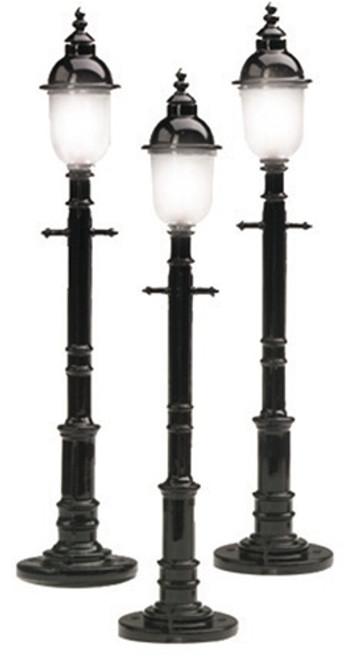MTH RailKing O 30-1078 Round Lamp Post Set (3)