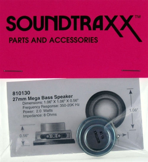 "SoundTraxx 810130 27mm x 14.3mm (1.06299"" x 0.5629921"") Round Mega Bass Speaker"