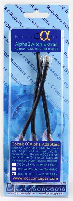 DCC Concepts DTX Cobalt Alpha Adapter for Digitrax