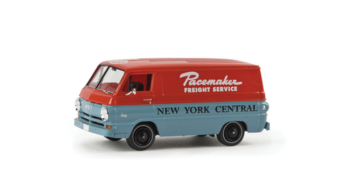 Brekina HO 34363 1964 Dodge A 100 Cargo Van, New York Central (Pacemaker Freight Service)