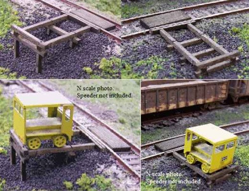 Blair Line HO 124 Handcar Set-Off Kits (3)
