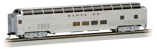 Bachmann Silver Series HO 13002 85' Budd Full DomeCar with LED Lighted Interior, Santa Fe