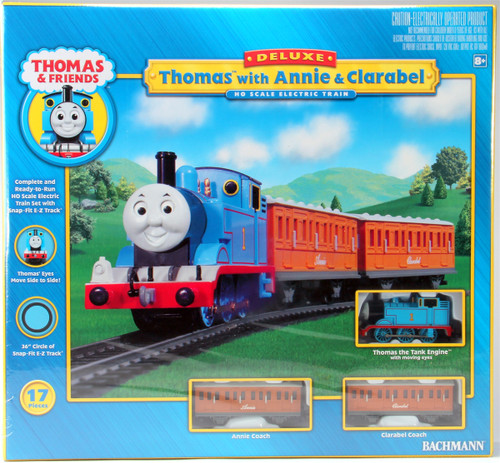 Bachmann HO 00642 Deluxe Thomas the Tank Engine with Annie and Clarabel Set Including E-Z Track