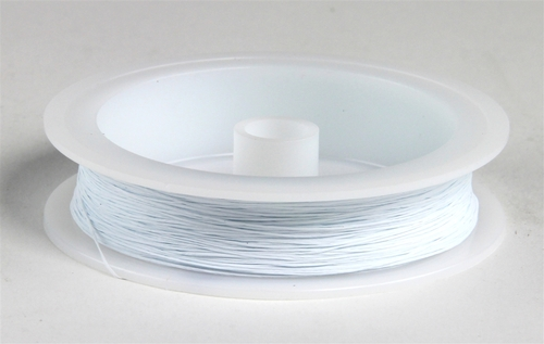 """Berkshire Junction EZ Line O/S Elastic Polymer Simulated Telephone and Electric Line, Heavy .020"""" Diameter x 100' Long White"""