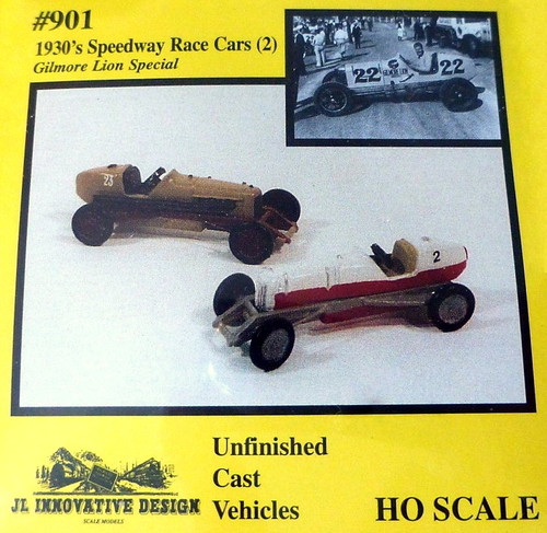 JL Innovative Design HO 901 1930s Speedway Race Cars Kit (2)