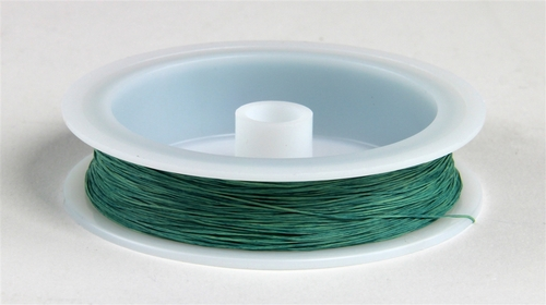 """Berkshire Junction EZ Line HO/N Elastic Polymer Simulated Telephone and Electric Line, Fine .010"""" Diameter x 100' Long, Green (Old Copper)"""