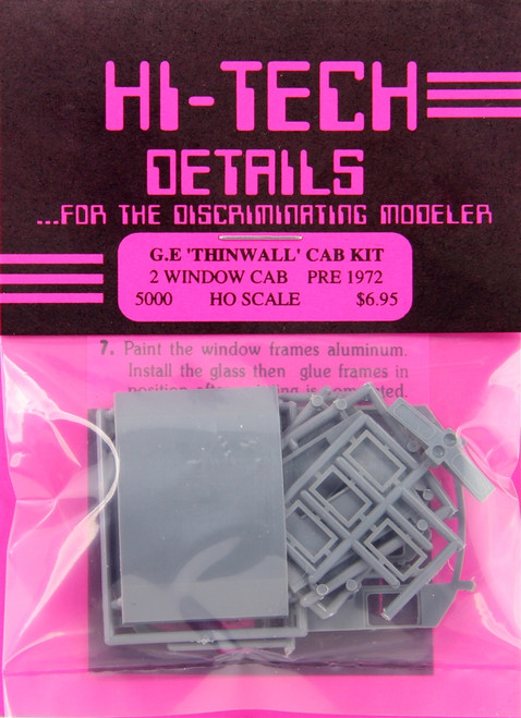 Hi-Tech Details HO 5000 Pre-1972 GE Diesel Cab Kit, 2-Window Version (d)