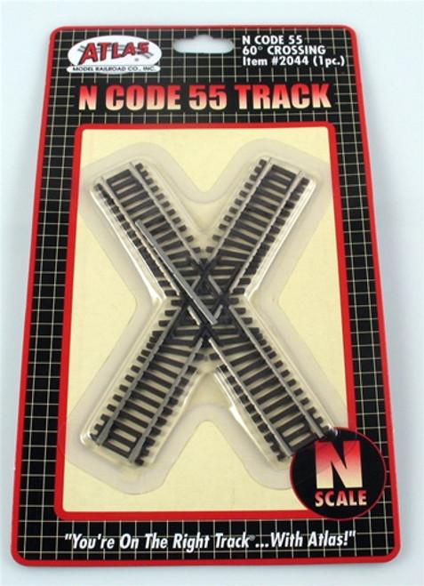 Atlas N 2044 Code 55 Track 60-Degree Crossing