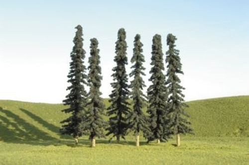 "Bachmann SceneScapes 32156 4"" to 6"" Conifer Trees (24)"