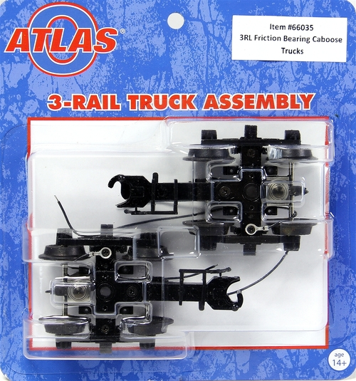 Atlas O 66035 3-Rail Friction Bearing Caboose Trucks (1 Pair)