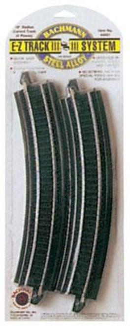 "Bachmann HO 44401 Steel EZ Track 18"" Radius Curve (4)"