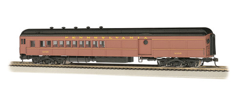 Bachmann Silver Series HO 13607 72' Heavyweight Combine Car with Single-Window Door and LED Lighted Interior, Pennsylvania Railroad #5159