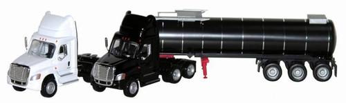 Herpa HO 006473-B Freightliner Cascadia Asphalt Tanker (Single Tanker with Black Cab)