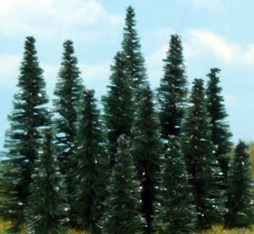 "Heki 0309 Unflocked Pine Mini-Forest, 1-1/2"" to 3"" (100-Pack)"