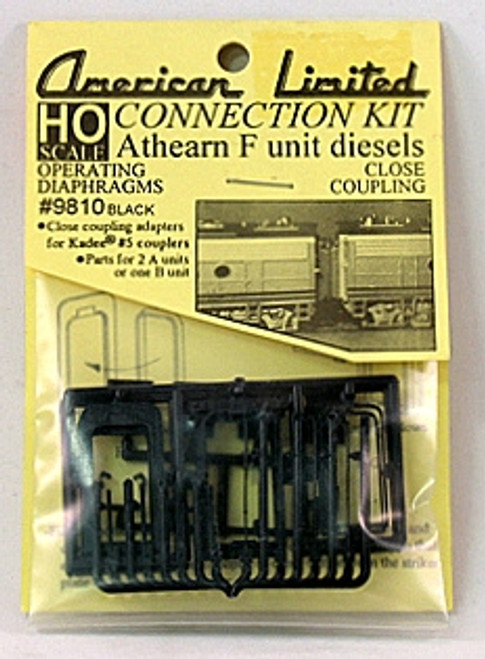American Limited HO 9810 Athearn F-Unit Connection Kit, Black