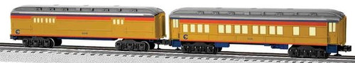 Lionel O 6-81769 Chessie System Coach/Baggage Baby Madison Passenger Car Set (2-Pack)