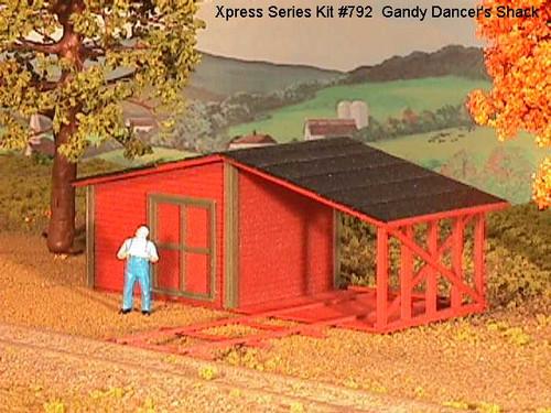American Model Builders HO 792 Gandy Dancer's Shack Kit