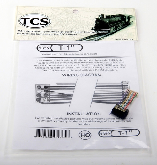 "Train Control Systems 1359 T-1"" 1"" Harness"