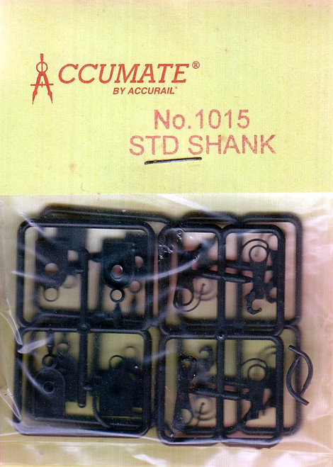 Accurail HO 1015 Accumate Standard Shank Couplers Kit with Coupler Boxes (2 Pair)
