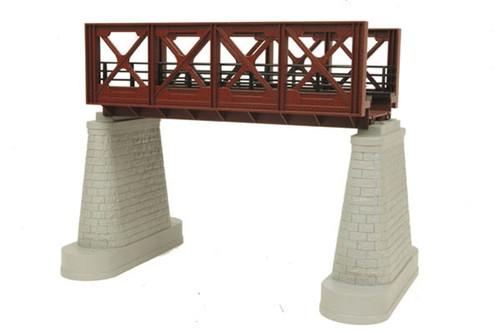 MTH RealTrax O 40-1104 Single Track Girder Bridge, Rust
