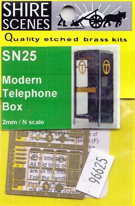 N Scale Architect N 96625 Shire Scenes (SN25) Modern Telephone Box Kit