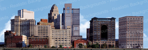 "Realistic Backgrounds 704-01 City Scene A 13"" x 38"""