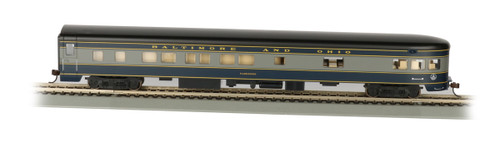 """Bachmann HO 14303 85' Smoothside 3-2 Observation Car with Lighted Interior, Baltimore and Ohio """"Washington"""""""