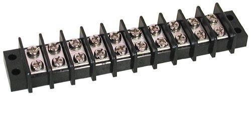 A.E. Corporation TS-310 10-Position Dual Row Strip, 25 Amp