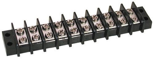 A.E. Corporation TS-310 10-Position Dual Row Strip, 25 Amp